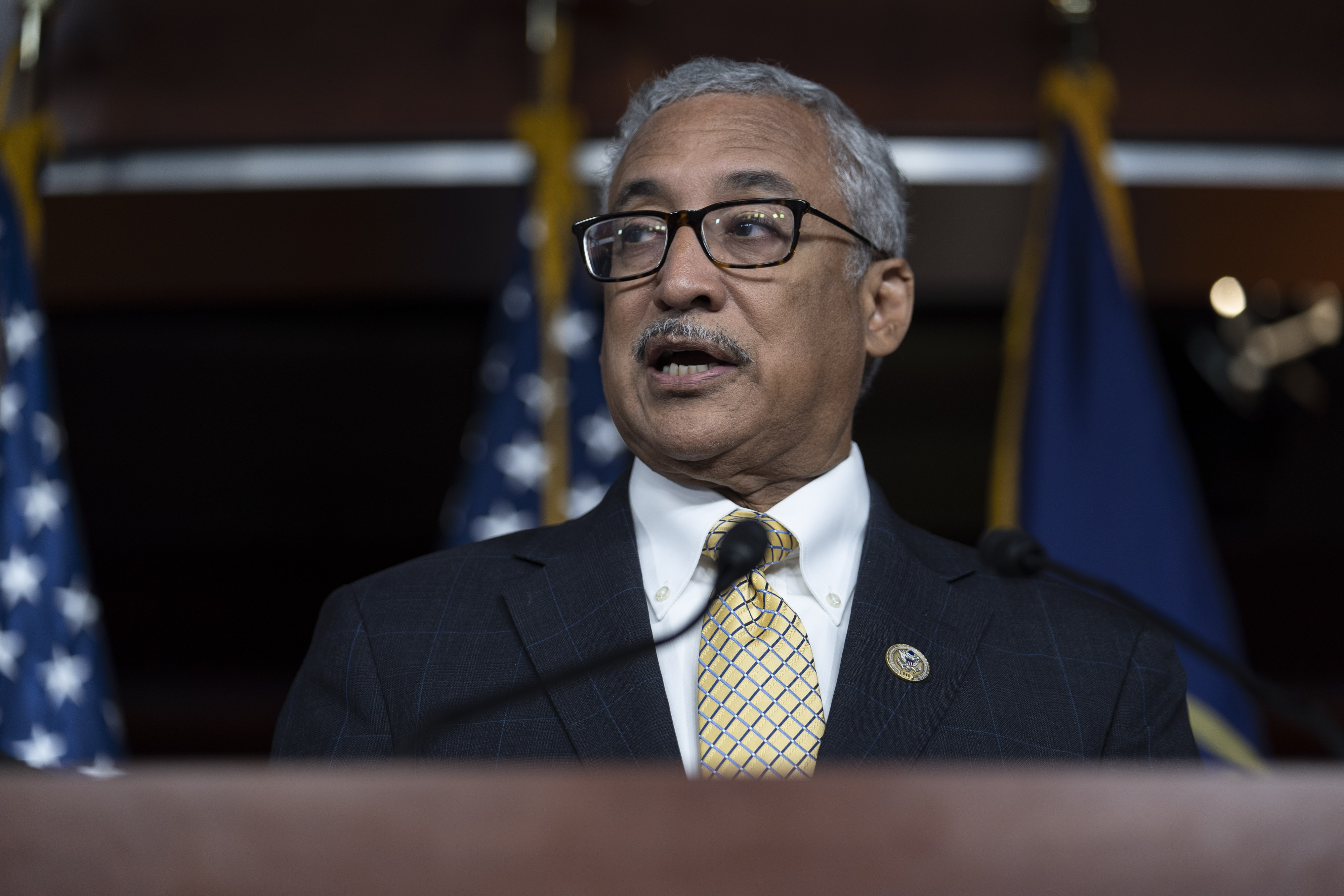 WASHINGTON, DC - JUNE 13: Rep. Bobby Scott (D-VA) speaks during a news conference held by House Democrats condemning the Trump Administration's targeting of the Affordable Care Act's pre-existing condition, in the US Capitol on June 13, 2018 in Washington, DC. (Photo by Toya Sarno Jordan/Getty Images)