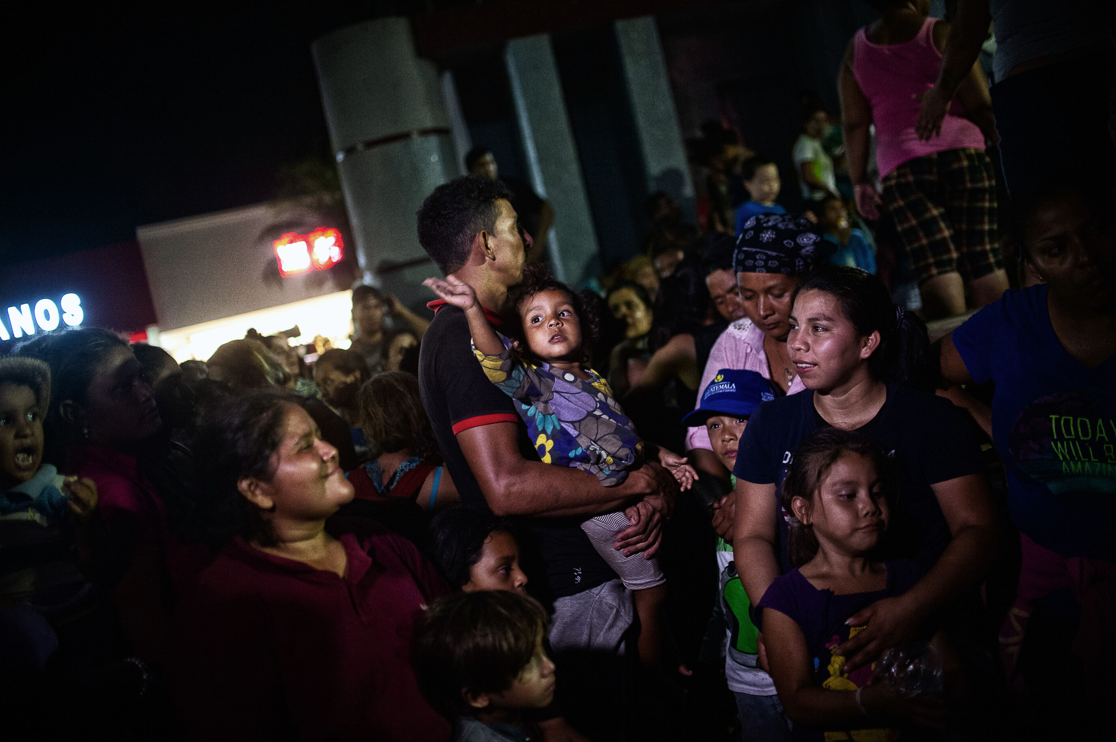 "Central American migrants heading in caravan to the US rest at the park Hidalgo in Tapachula in Mexico on April 12, 2019. - A group of 350 Central American migrants forced their way into Mexico Friday, authorities said, as a new caravan of around 2,500 people arrived -- news sure to draw the attention of US President Donald Trump. Mexico's National Migration Institute said some members of the caravan had a ""hostile attitude"" and had attacked local police in the southern town of Metapa de Dominguez after crossing the border from Guatemala."