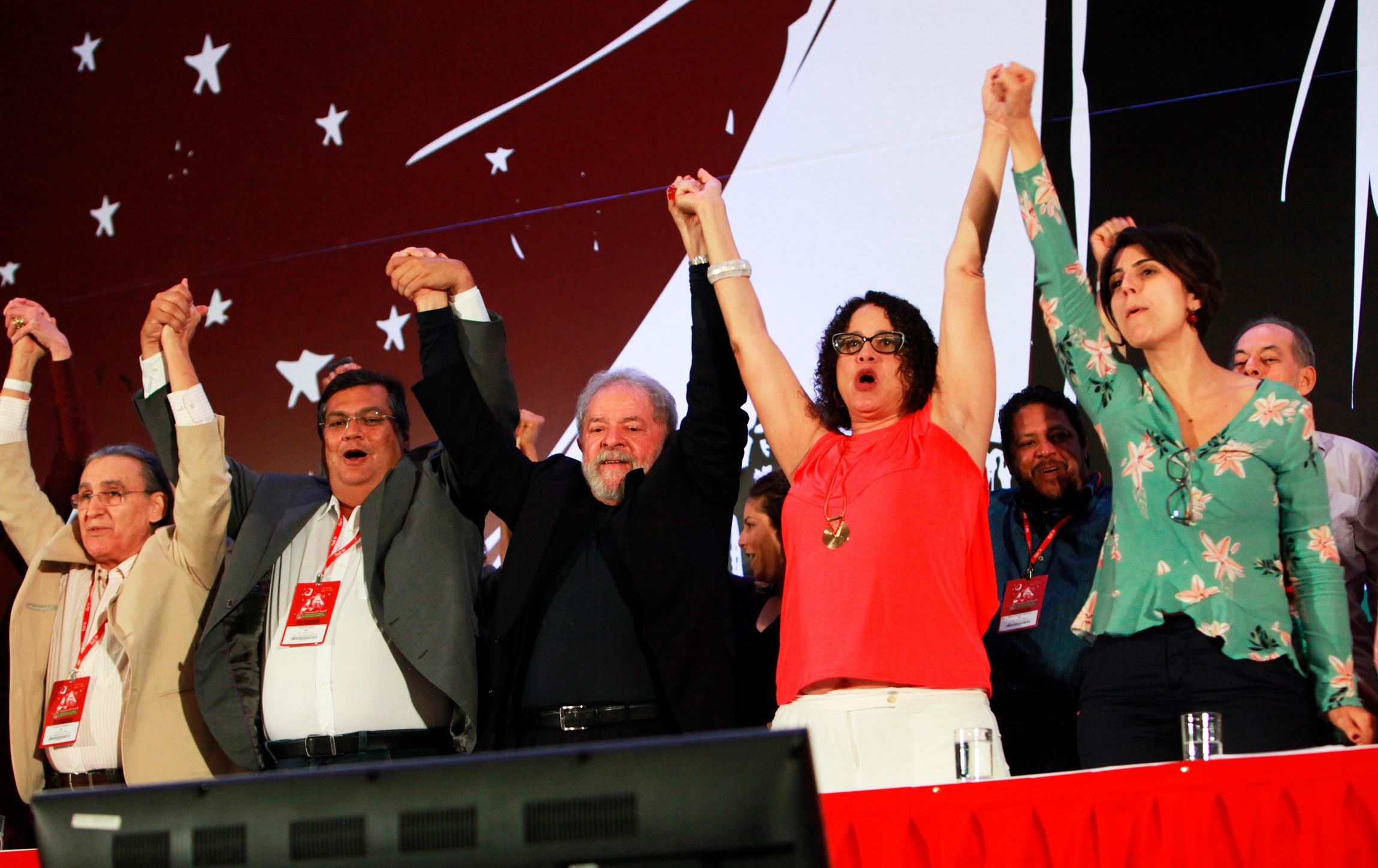 Lançamento da pré-candidatura da deputada estadual Manuela D`Ávila (PC do B-RS) à Presidência da República no Congresso Nacional do PC do B, em 19 de novembro de 2017.