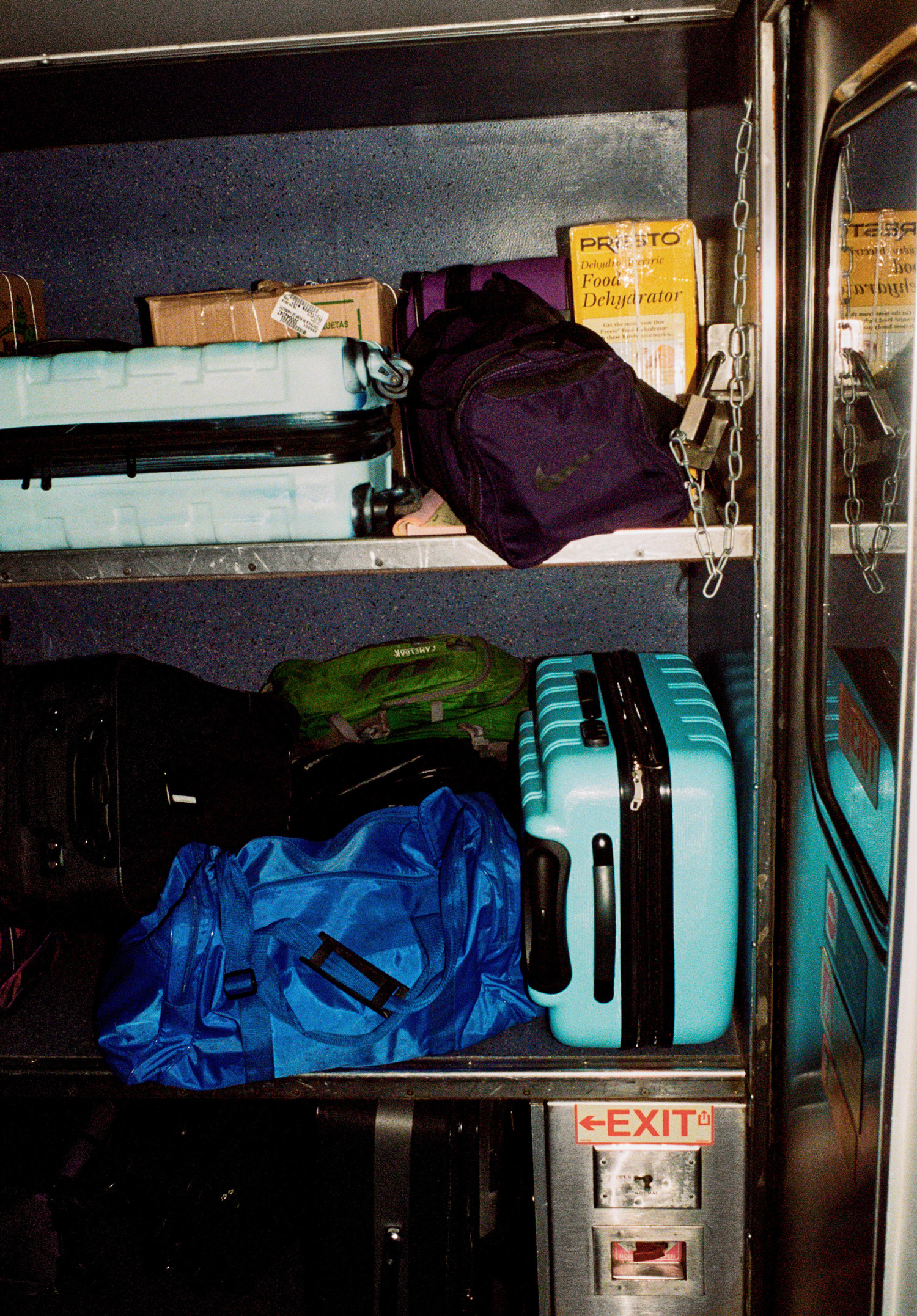 Passengers luggage stored on The Southwest Chief