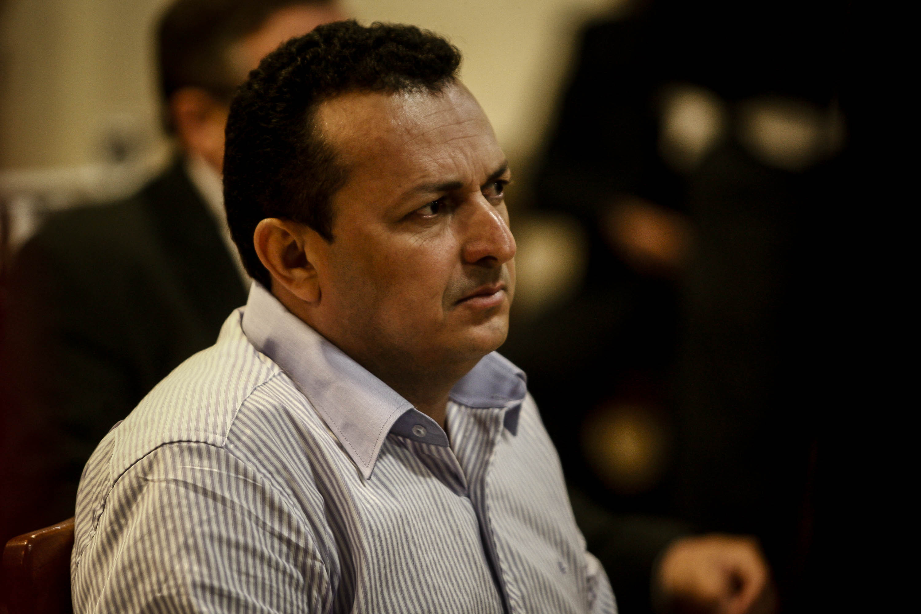 The farmer Vitalmiro Bastos de Moura, accused of ordering the death of american missionary Dorothy Stang during trial.