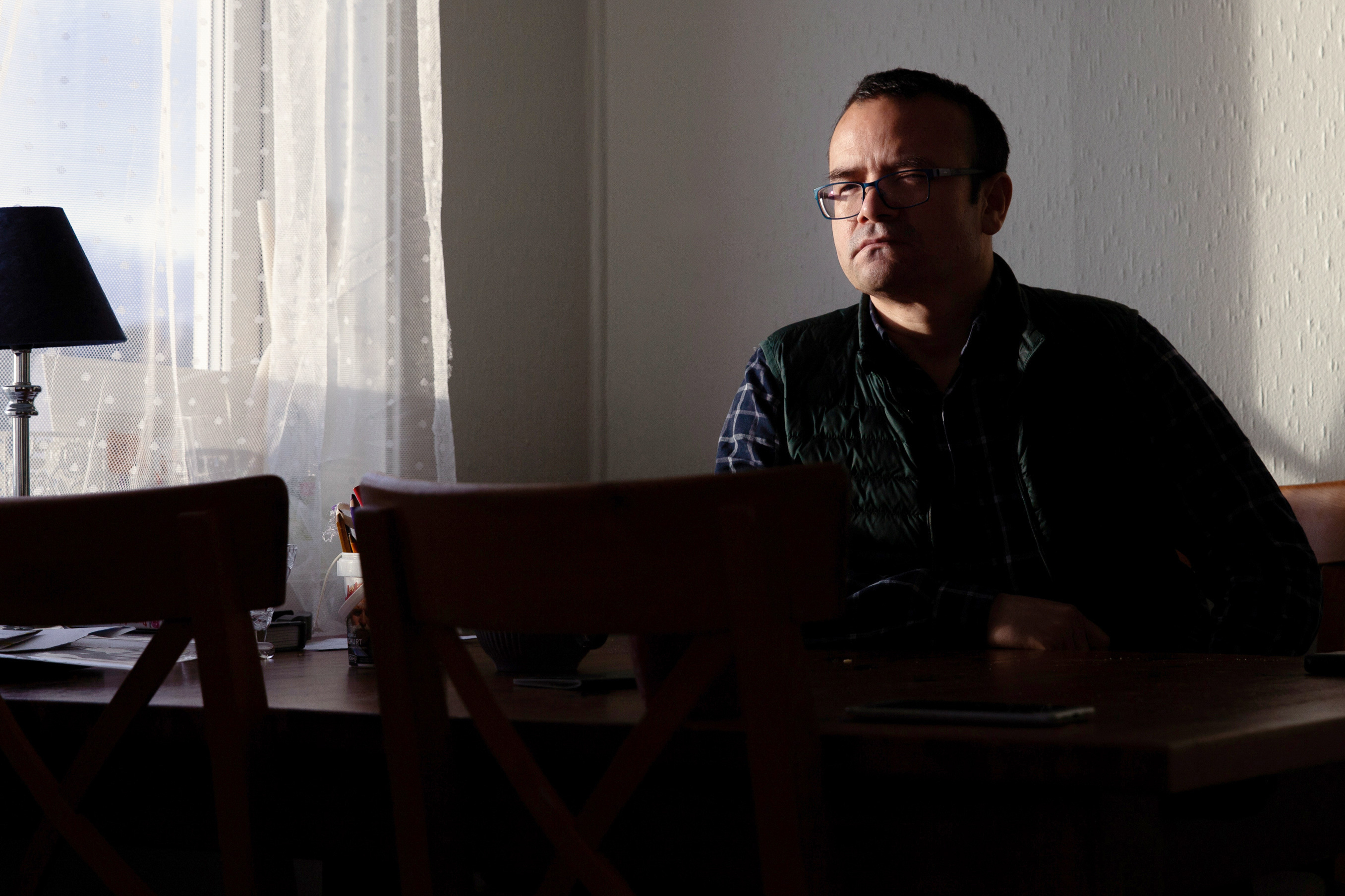 Abduweli Ayup, a Uyghur national, linguist and activist at his home in Bergen, Norway on January 21, 2021.
