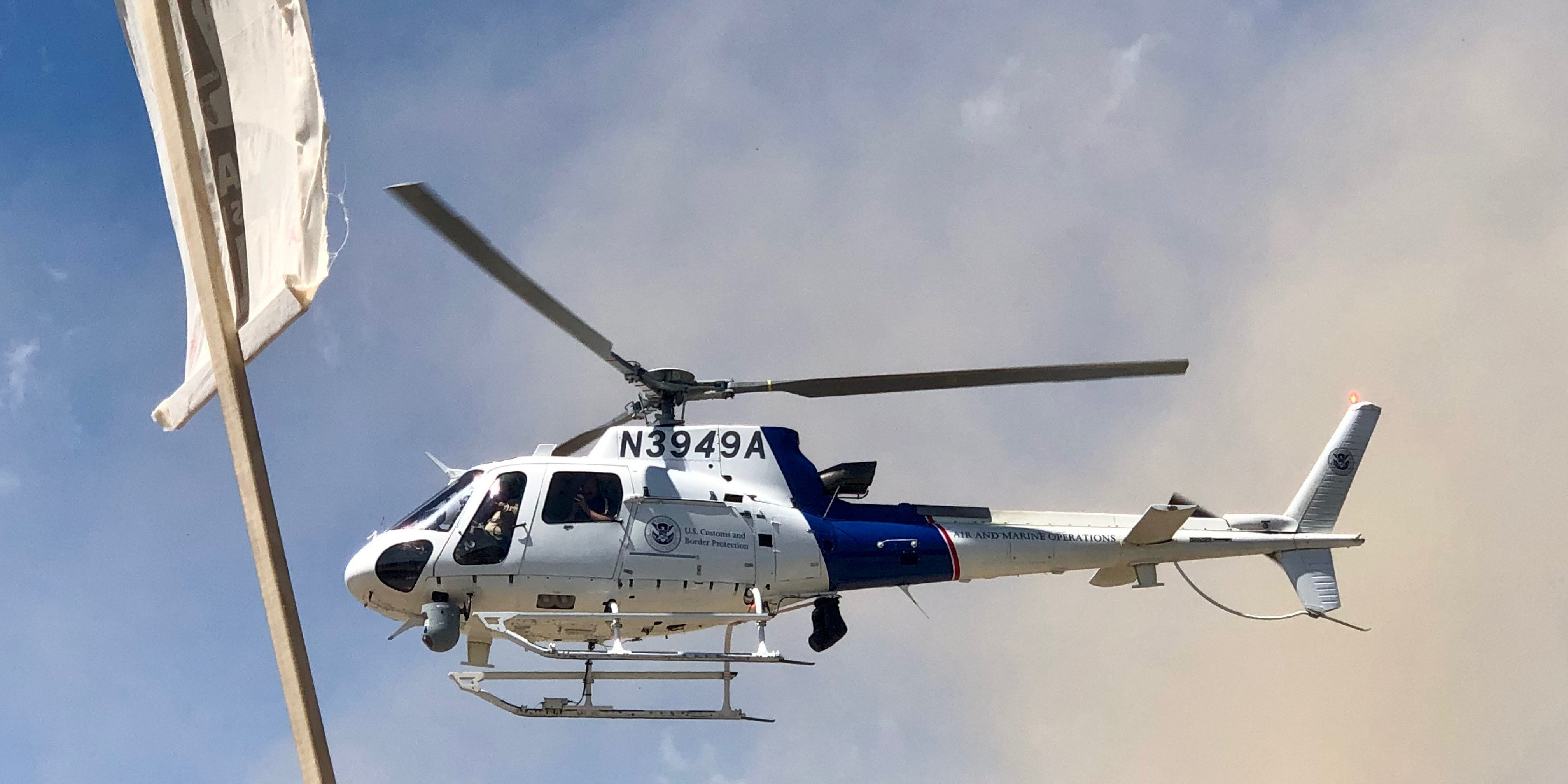 Low-Flying DHS Helicopter Showers Anti-Pipeline Protests With Debris
